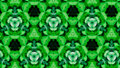 Abstract green flower pattern