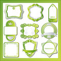 Abstract green labels set Royalty Free Stock Images