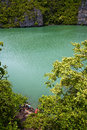 Abstract Of A Green Lagoon And...