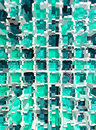 Abstract green mosaic dimension background Stock Photo