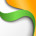 Abstract green and orange paper background vector illustration Royalty Free Stock Photo