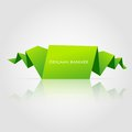 Abstract green origami speech bubble vector illustration Royalty Free Stock Photography