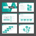 Abstract green presentation template Infographic elements flat design set for brochure flyer leaflet marketing Royalty Free Stock Photo