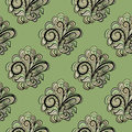 Abstract green seamless pattern floral elements pattern can be used as wallpaper web page background textile design etc Stock Photography