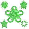 Abstract green shapes white background with group of Royalty Free Stock Images