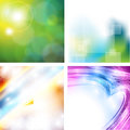 Abstract green shiny background Royalty Free Stock Photos