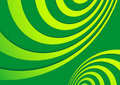 Abstract green spirals Royalty Free Stock Photography