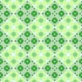 Abstract green tiled pattern, Tile checked texture background, Retro seamless illustration Royalty Free Stock Photo
