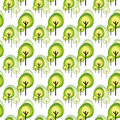 Abstract green tree seamless pattern Royalty Free Stock Photography
