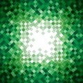 Abstract green triangle mosaic background design