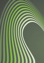 Abstract green waves composition Stock Images