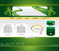 Abstract green web template Stock Photos