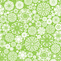 Abstract green and white circles seamless pattern vector background with many hand drawn ornamental oval shapes Royalty Free Stock Photography