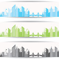 Abstract grey real estate design for website banne illustration of banner Royalty Free Stock Photography