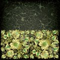 Abstract grunge background with floral ornament Stock Images