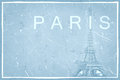 Abstract grunge background pattern with eiffel tower