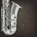 Abstract grunge background saxophone and musical instruments Royalty Free Stock Photo
