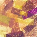 Abstract Grunge Collage With Brush Strokes, Geometric Elements. Grungy Colorful Background With Red, Yellow, Orange,old Gold Color