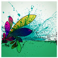 Abstract grunge flower background design Stock Photo