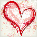 Abstract grunge heart background Stock Photos