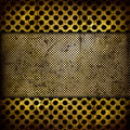 Abstract grunge iron surface with circles Stock Image