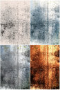 Abstract grunge metal backgrouds set of four backgrounds Royalty Free Stock Image