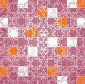 Abstract grunge mosaic tiles raster Royalty Free Stock Photo