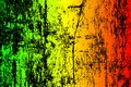 grunge painted scratched texture background . EPS10  illustration reggae colors green, yellow, red Royalty Free Stock Photo