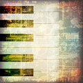 Abstract grunge piano background with piano keys Royalty Free Stock Photo