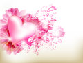 Abstract grunge pink background with heart Stock Image