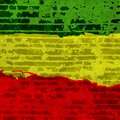 Abstract grunge scratched texture background . EPS10  illustration reggae colors green, yellow, red Royalty Free Stock Photo