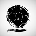 Abstract grunge soccer ball Royalty Free Stock Photo