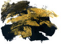 Abstract grunge texture. Golden and black stroke texture.
