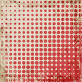 Abstract grunge vintage background of red dots evenly decrease size of circles comics style vector illustration Royalty Free Stock Photos