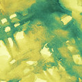 Abstract grunge watercolor background blue and yellow Stock Photography