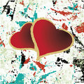 Abstract grungy background heart illustration Royalty Free Stock Photography