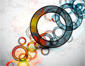 Abstract grungy circles. Vector background Royalty Free Stock Photo