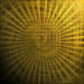 Abstract Black Halftone Dots in Yellow Background