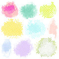 Abstract Halftone Backgrounds Vector Set of Modern Design Element. colored Logo, illustration grunge