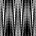 Abstract Halftone Black and White Vector Seamless Pattern Background