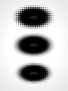 Abstract halftone dots for grunge background three Royalty Free Stock Images