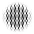 Abstract halftone gradient background circle of squares in hexagoal arrangement. Simple stylish modern design vector