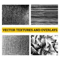 Abstract halftone vector illustration. Grunge textures and overlays for background and design. Royalty Free Stock Photo