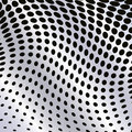Abstract halftone wave