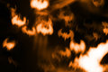 Abstract halloween background, fire bats on dark night sky Royalty Free Stock Photo