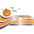 Abstract Halloween Swoosh Stock Fotografie
