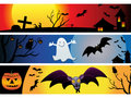 Abstract halloween web banners Stock Photos