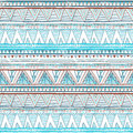 Abstract hand-drawn ethnic pattern, tribal background. Vector pattern. blue Ethnic seamless
