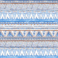 Abstract hand-drawn ethnic pattern, tribal background. Vector pattern. vector Ethnic seamless blue