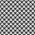 Abstract hand drawn painted monochrome seamless pattern